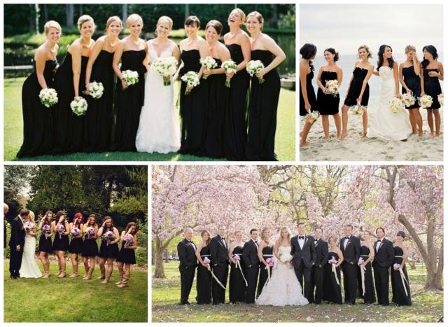 Madrinhas vestido preto