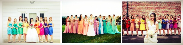 madrinhas vestidos coloridos