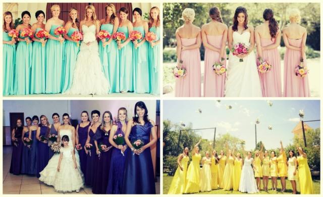 Madrinhas vestidos