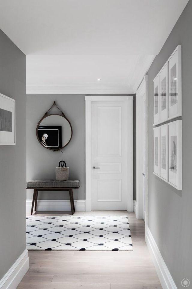 cinza decoração corredor