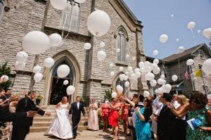 Baloes helio saida noivos Igreja 010