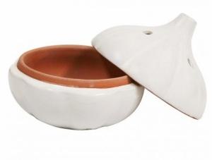 porta alho de cerâmica