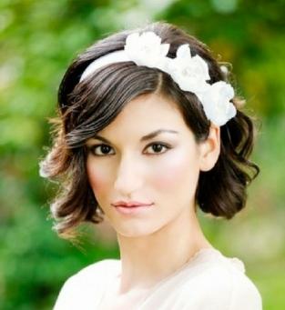 noiva cabelo curto tiara