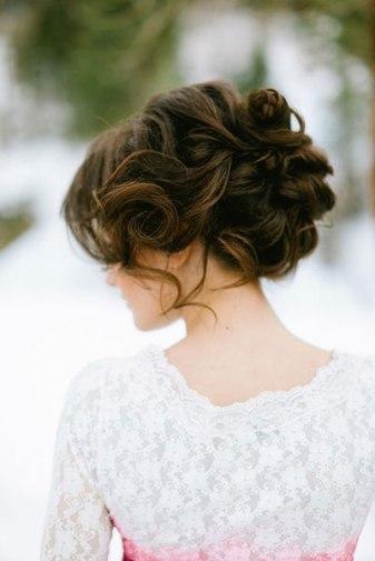 cabelo noiva cachos coque