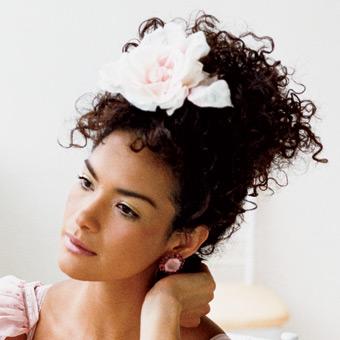 coque bagunçado noiva afro