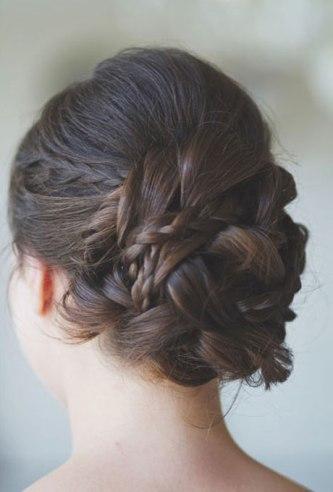 noiva cabelo coque com trança