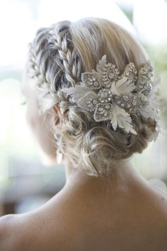 penteado coque trança noiva