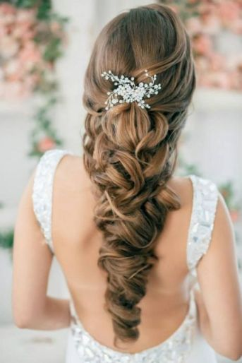 Penteado noiva trança longa