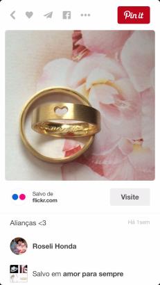 Alianças Pinterest